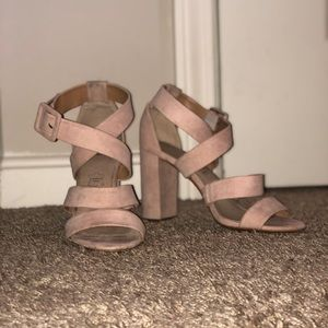 Blush Pink Heels. great quality. Worn twice.